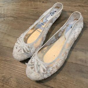 Shoes - LACE BALLET FLATS